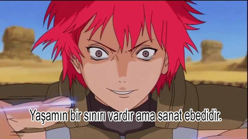 Sasori Naruto Sözleri
